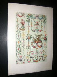 Racinet Ornament 1874 Folio Antiqu Print. 18th Century #3